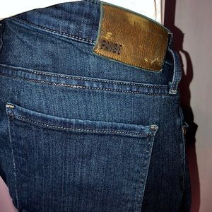Paige Federal Straight Leg Stretch Blue Jeans Sz34